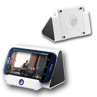 Indigi® Induction Magic iBoost Amplifying Mini Speaker - Alpine White - 750mAh - iOS and Android Compatible