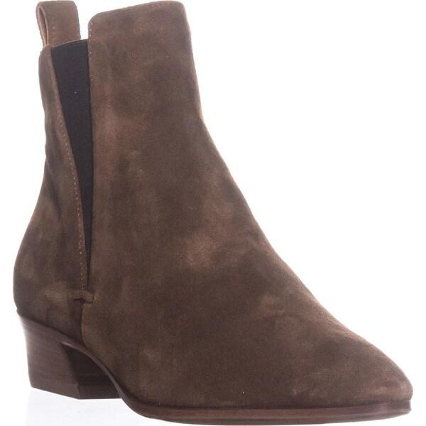 Aquatalia Fausta Pull On Ankle Boots, Chestnut - 6 us