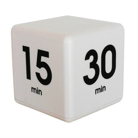 White 60 Minute Preset Timer Cube