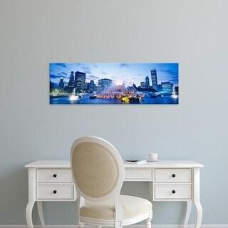 Easy Art Prints Panoramic Images's 'Buckingham Fountain, Grant Park, Chicago, Illinois, USA' Premium Canvas Art