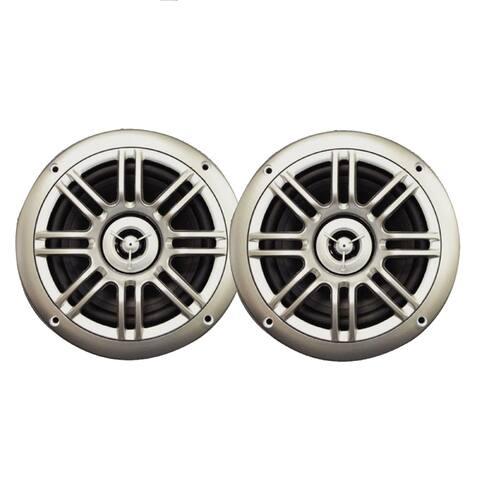 Milennia 6.5 150w 2-way silver marine speakers spk652s