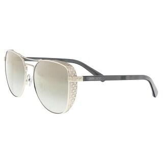 Jimmy Choo SHEENA/S 0B4E White Gold Aviator Sunglasses - 58-17-140
