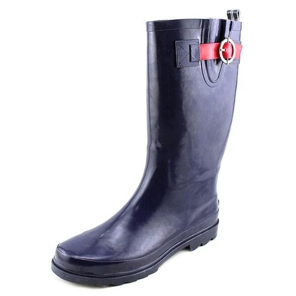 Nautica Saybrook Women Navy/Red Snow Boots