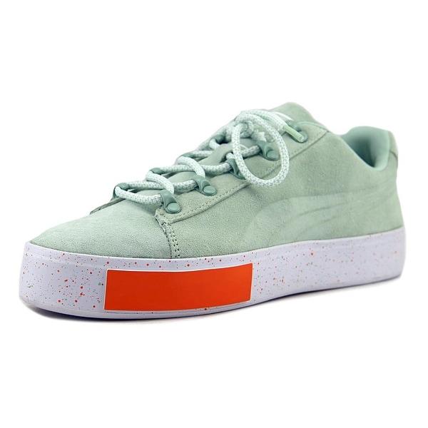 Puma PUMA x DP Court Platform SS Men Round Toe Suede Green Sneakers