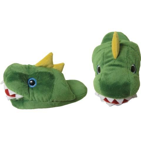 Kreative Kids Unisex Green T-Rex Plush Animal Slippers 12 Kids