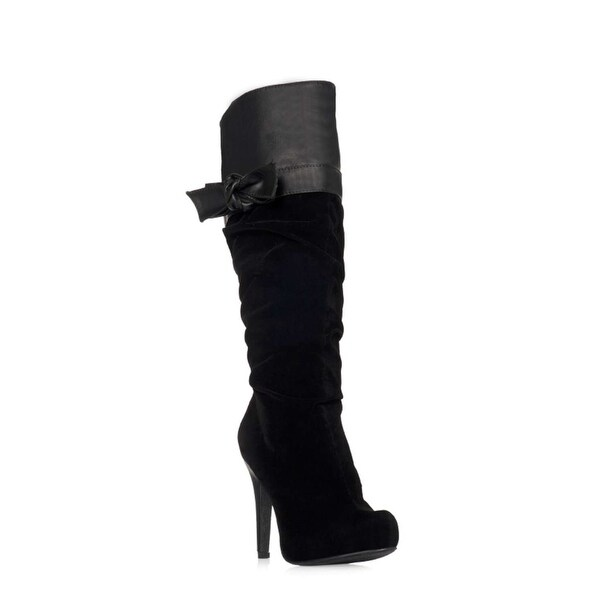 Just Fab Womens Briyanni Pointed Toe Mid-Calf Fashion Boots