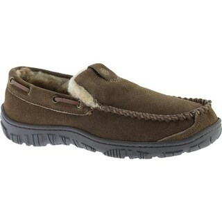 Clarks Men's Venetian Moccasin Slipper Brown Leather