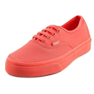 Vans Authentic Youth  Round Toe Canvas Orange Skate Shoe