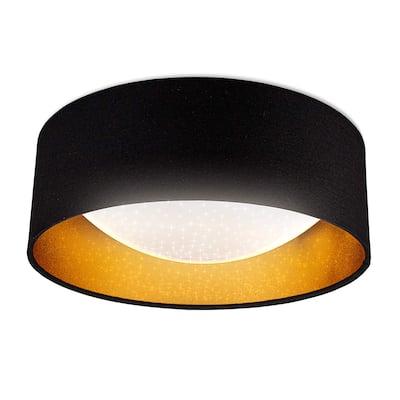 "1 - Light 12.6"" Shaded Drum LED Flush Mount"