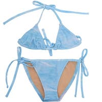 Popup Shop Baby Girls Blue Dolphin Print UV Safe 2 Piece Bikini Swimsuit 1-2