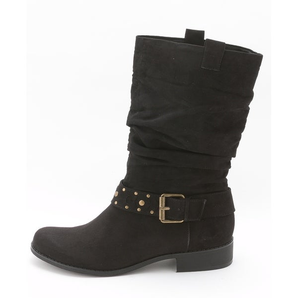 Unlisted Womens ZAP THAT Almond Toe Mid-Calf Fashion Boots