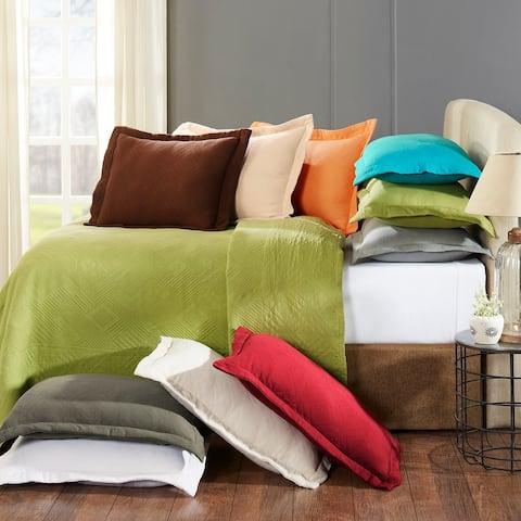 Miranda Haus Geometric Cotton Jacquard Bedspread Set with Pillow Shams