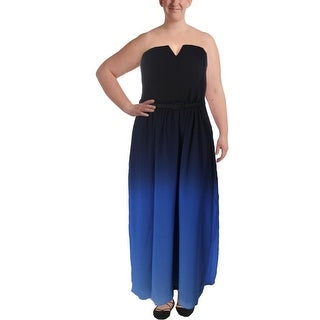 City Chic Womens Plus Maxi Dress Ombre Strapless