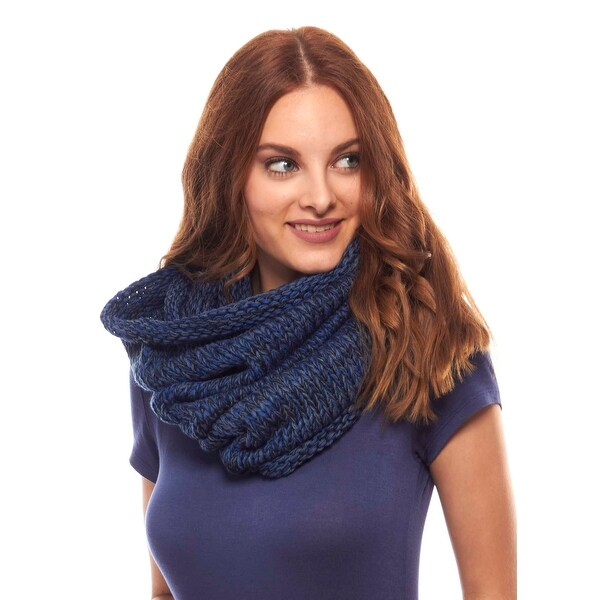 Unisex Chunky Knit Infinity Scarf