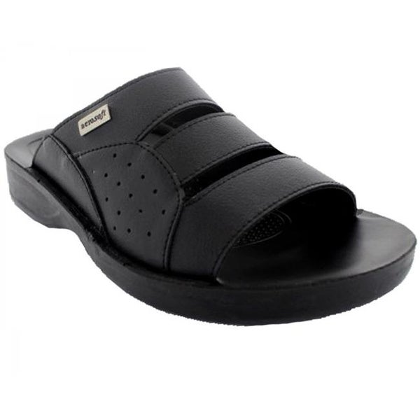 76455a30134f35 Shop Aerosoft Trio Men Original Sandals, Black - Size 8 - Free ...