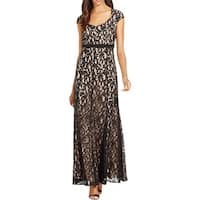 MSK Womens Evening Dress Lace Pleated