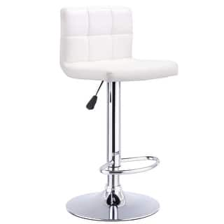 Costway 1 PC Bar Stool Swivel Adjustable PU Leather Barstools Bistro Pub Chair White|https://ak1.ostkcdn.com/images/products/is/images/direct/d5fde8962ca01ffe5185bd7b51ae6a5f499e1be1/Costway-1-PC-Bar-Stool-Swivel-Adjustable-PU-Leather-Barstools-Bistro-Pub-Chair-White.jpg?impolicy=medium