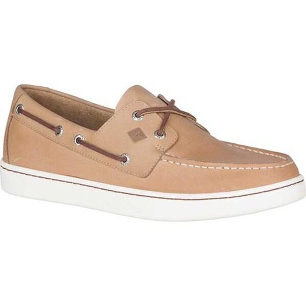Eye Boat Shoe Linen Full Grain Leather