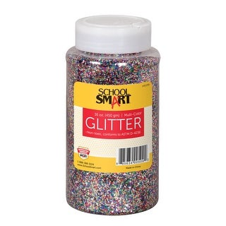 School Smart Craft Glitter, 1 Pound Jar, Assorted Colors