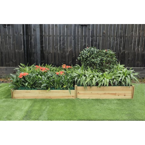 Wood Two Section Raised Garden Bed