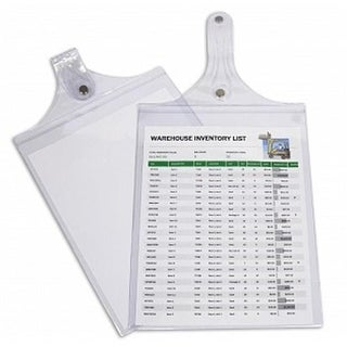 C-Line Products Magnetic Hanging Shop Ticket Holders, Clear&#44