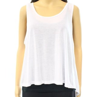 BP. NEW White Bright Large L Junior Scoop Neck Sleeveless Tank Top DEAL