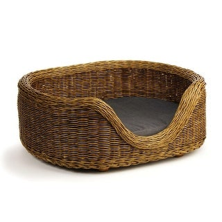 Handcrafted Burmese Rattan Small Dog Bed 25.5