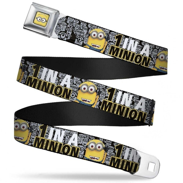 Minion Dave Face Close Up Full Color 1 In A Minion Tom Pose3 Stacked Seatbelt Belt