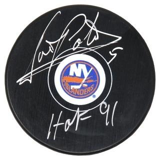 Denis Potvin New York Islanders Logo Hockey Puck WHOF91