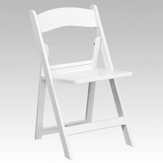 Rivera Heavy Duty Resin Folding Chair, White