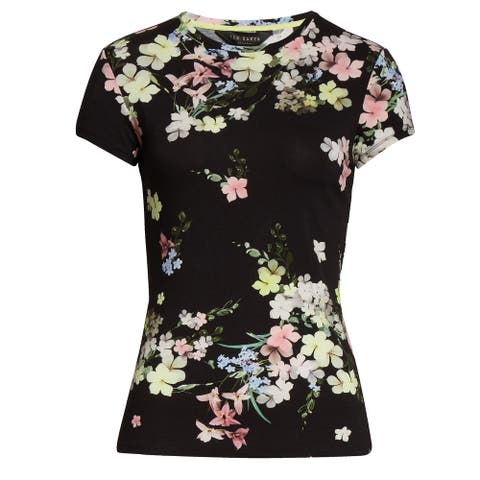 Ted Baker Womens Aliey Pergola Floral Fitted Tee