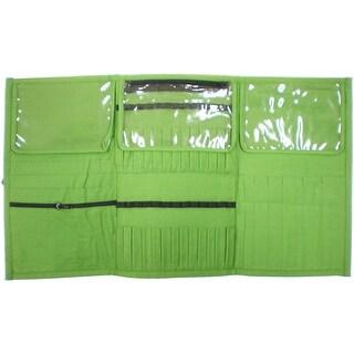 "Premier Yarn Needle & Notions Organizer-10.75""x6.5""x.5"" Green"