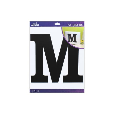 52-90445 ek sticko sticker jumbo basic black monogram m