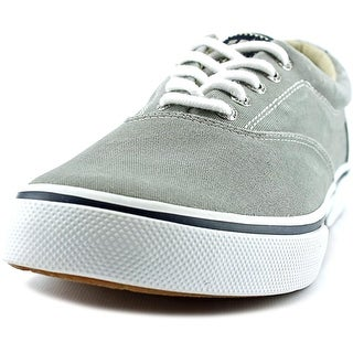 Sperry Top Sider Halyard Men Round Toe Canvas Gray Sneakers