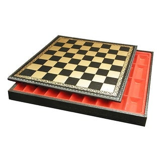17 Inch Pressed Leather Chest Chess Board - Multicolored