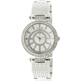 Guess Women's U1008L1 Silver Stainless-Steel Japanese Quartz Fashion Watch