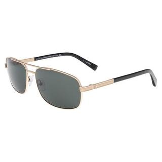Ermenegildo Zegna EZ0012/S 28N Rose Gold and Black Rectangle Sunglasses - rose gold and black - 61-16-140