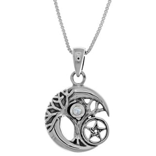 Link to Sterl Silver Celtic Tree of Life Moon Star Pendant Similar Items in Necklaces