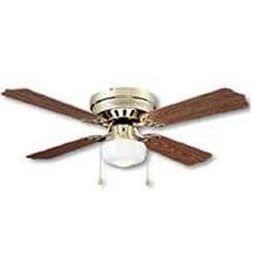 "Boston Harbor CF-78125 Hugger Style Ceiling Fan, 42"", Polished Brass"