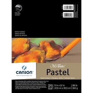 "Canson Mi-Teintes Pastels Paper Pad 9""X12""-Earth Tones 24 Sheets"