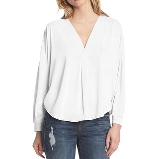 Kiind Of Womens Casual Top V Neck Long Sleeve