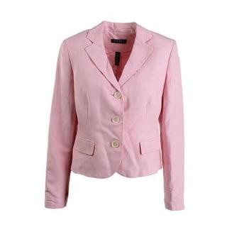 Lauren Ralph Lauren Womens Silk Peak Collar Three-Button Blazer - 8