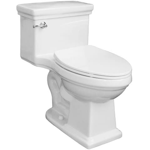Mirabelle MIRKW241N Key West 1.28 GPF One Piece Elongated ADA Height Toilet - Slow Close Seat Included - White