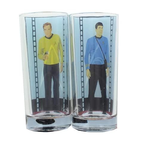 Star Trek 2-Pack Set Drinking Glass - Clear