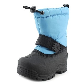 Northside Frosty Toddler Round Toe Canvas Blue Snow Boot