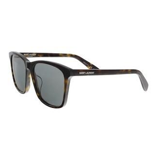 Saint Laurent SL 205/K 002 Havana Square Sunglasses