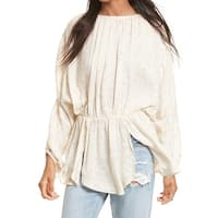 Free People Womens Medium Smocked Sequined Tunic Top