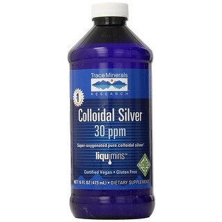 Trace Minerals Super Oxygenated Colloidal Silver 30 ppm - 16 oz Immune Function