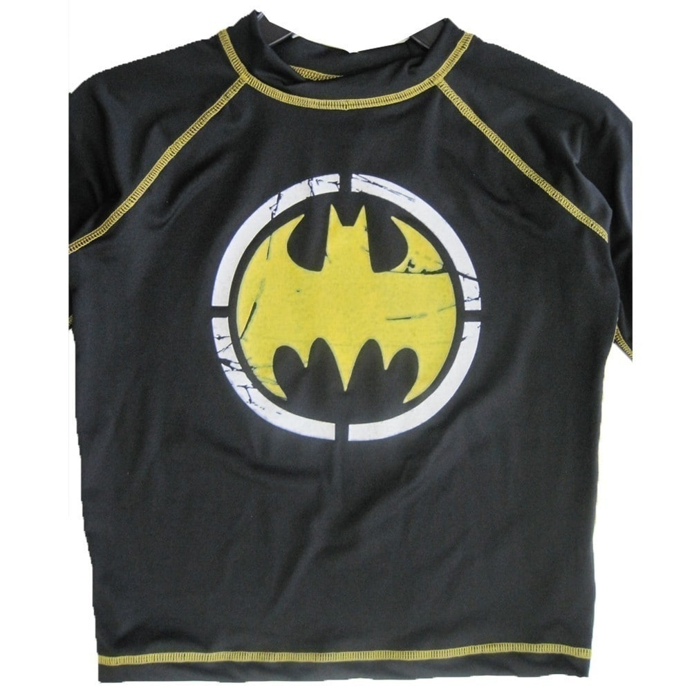 Boys/' Batman Rash Guard Black L 12//14