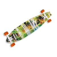 39.5 inch Complete Cruiser Fishtail Longboard with Waterfall Graphics - Multicolored